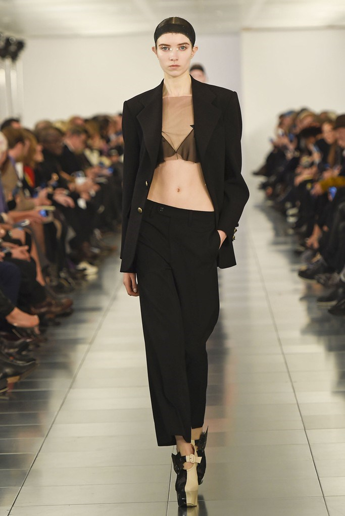 """<strong>Vanessa Lawrence, features editor</strong> <br /> <br /> """"If I have to look at something every day, it may as well be a beautifully-crafted power suit."""" <em>Maison Margiela couture, spring 15 </em>"""