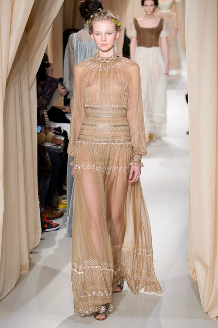 """<strong>Claudia Jukic, fashion news contributor</strong> <br /> <br /> """"If we're living in a whimsical dream world where I can afford Valentino, this would be my pick. Billowing sleeves + a ruffled collar + braided hair = heaven"""" <em>Valentino couture, spring 15</em>"""