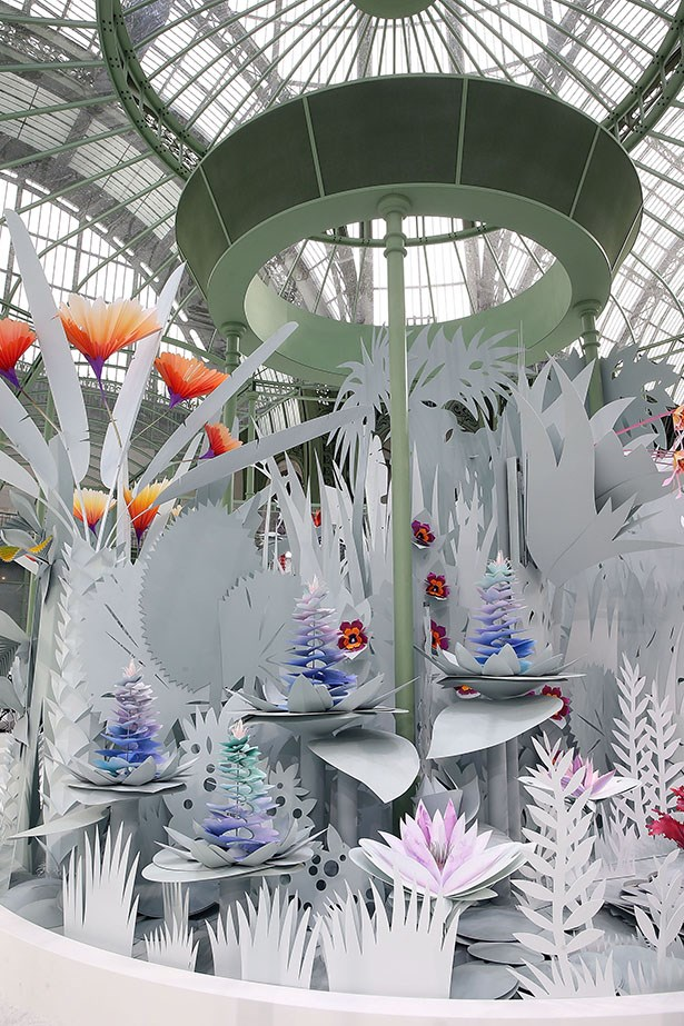 """<strong>Carly Roberts, art director</strong> <br /> <br /> """"Forget the outfits, can I please wear that paper garden set forever?"""" <em>Chanel couture, spring 15 set</em>"""