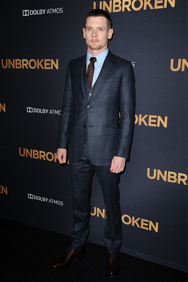 "Jack O'Connell at the Los Angeles premiere of ""Unbroken"", December 2014."