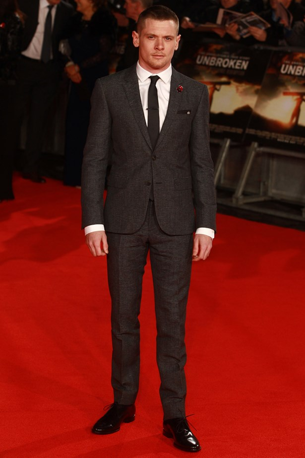 "Jack O'Connell at the UK premiere of ""Unbroken"", November 2014."
