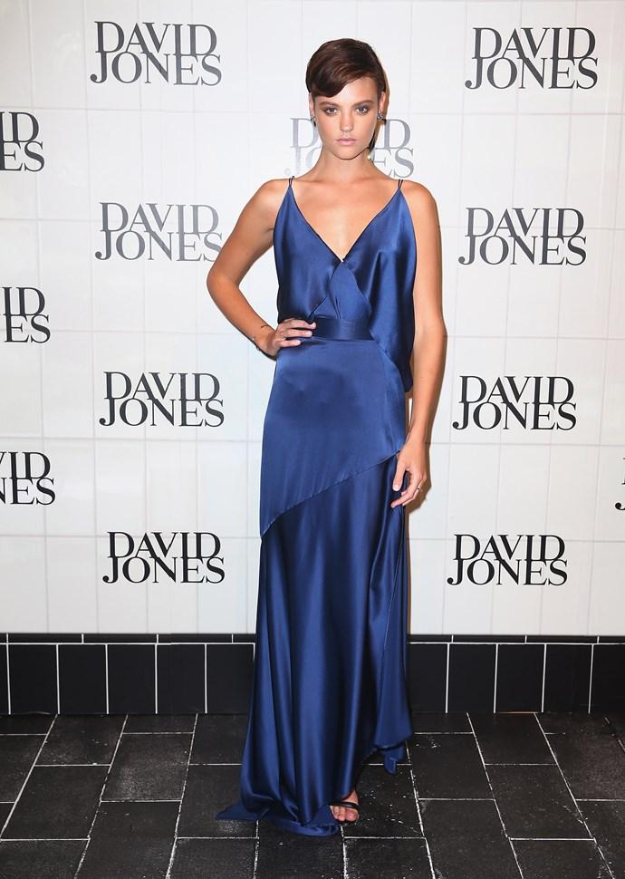 Montana Cox at David Jones' AW15 runway show in Sydney