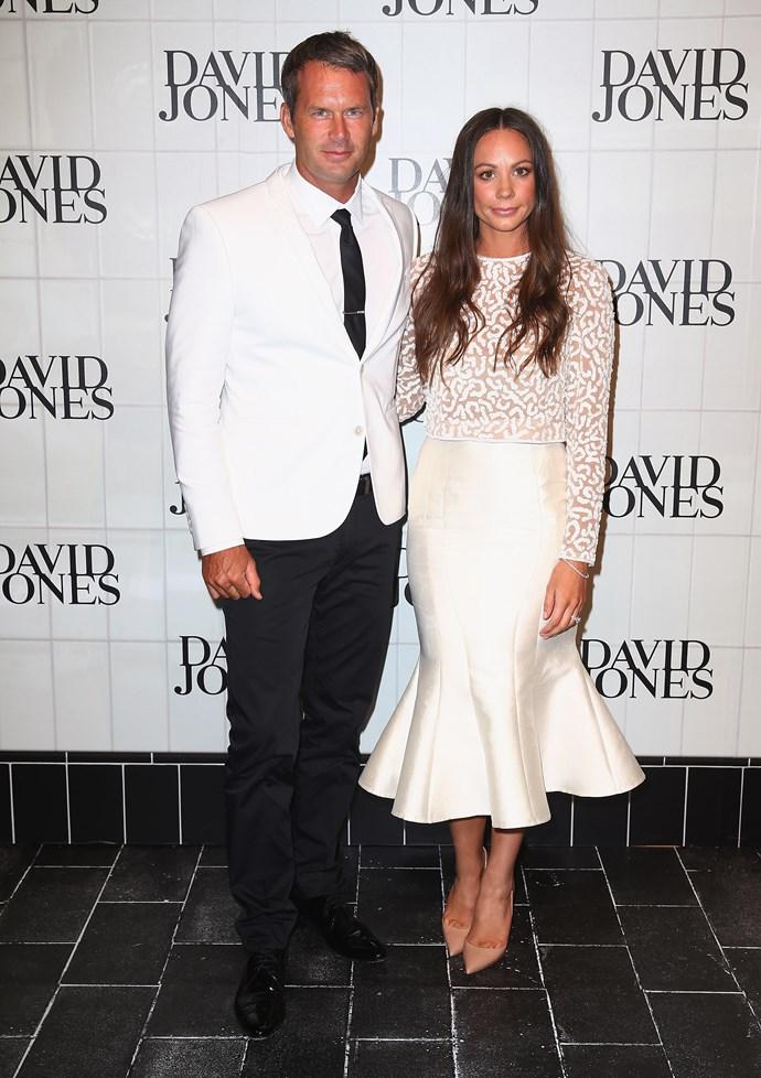 Tom Williams and Rachel Gilbert at David Jones' AW15 runway show in Sydney