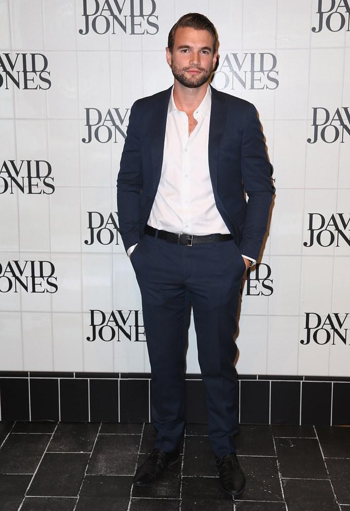Alex Russell at David Jones' AW15 runway show