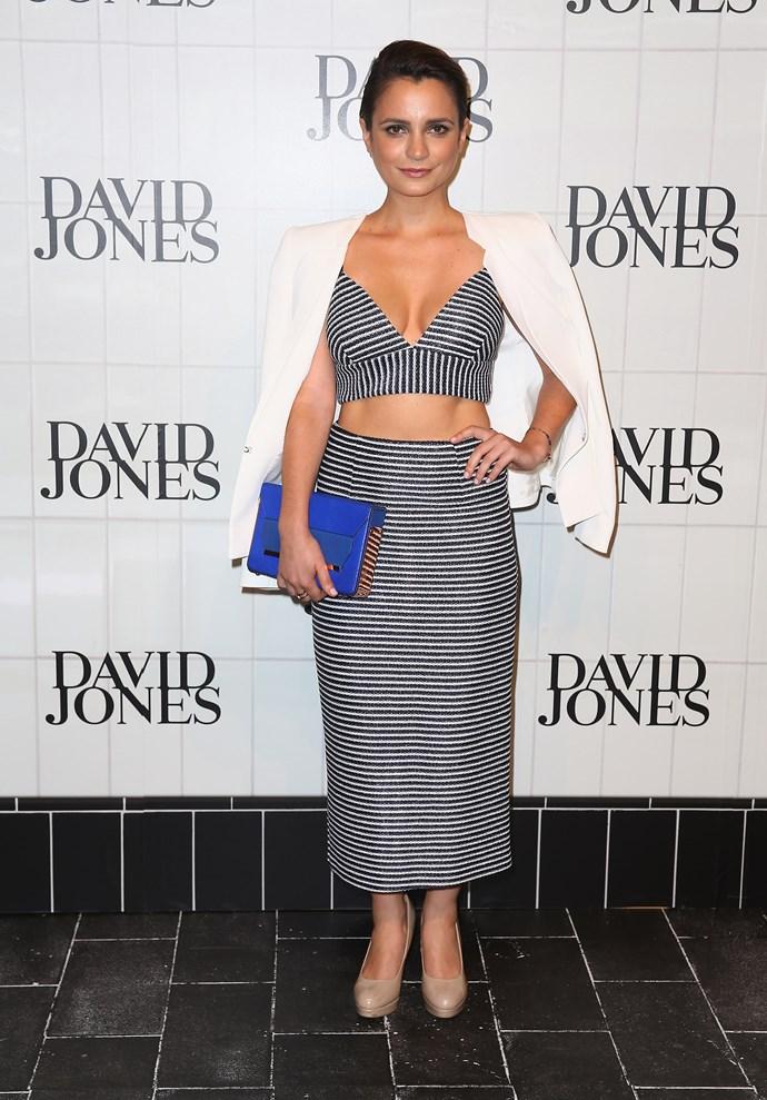 Jessica Tovey aat David Jones' AW15 runway show in Sydney