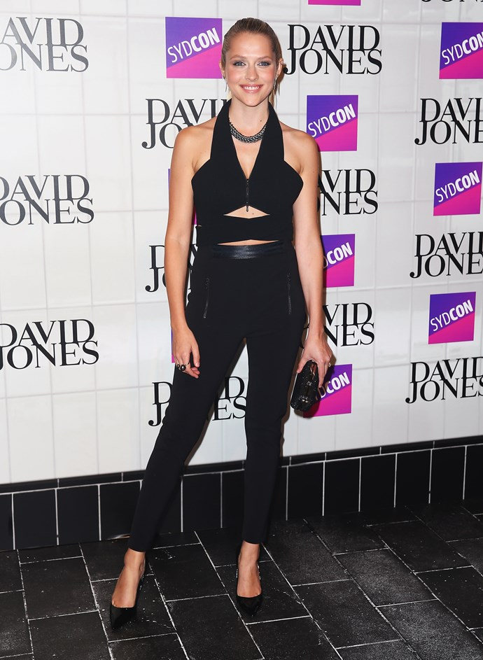 Teresa Palmer at David Jones' AW15 runway show in Sydney