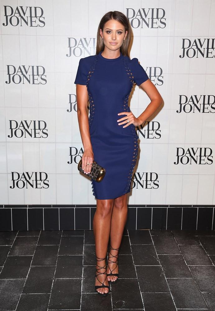 Jesinta Campbell at the David Jones' AW15 runway show in Sydney