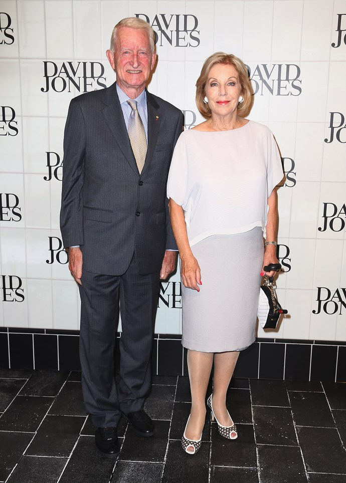 Ross Steele and Ita Buttrose at the David Jones AW15 runway show