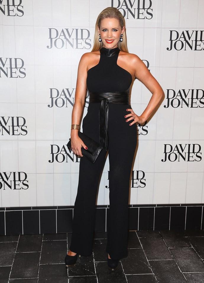 Sophie Falkiner at the David Jones AW15 runway show