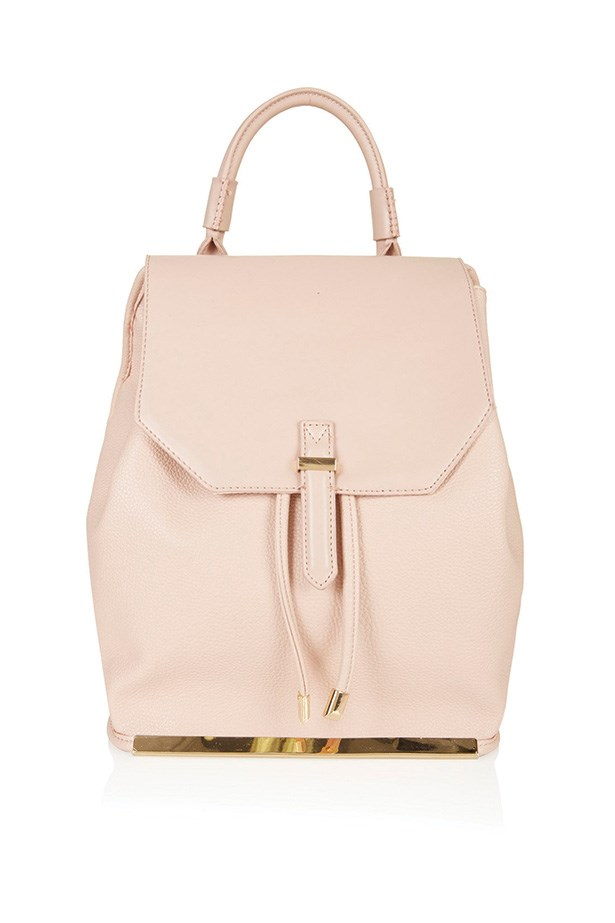 "Backpack, $66, Topshop, <a href=""http://www.topshop.com/en/tsuk/product/new-in-this-week-2169932/new-in-this-week-493/clean-smart-backpack-4053070?bi=201&ps=200"">topshop.com</a>"