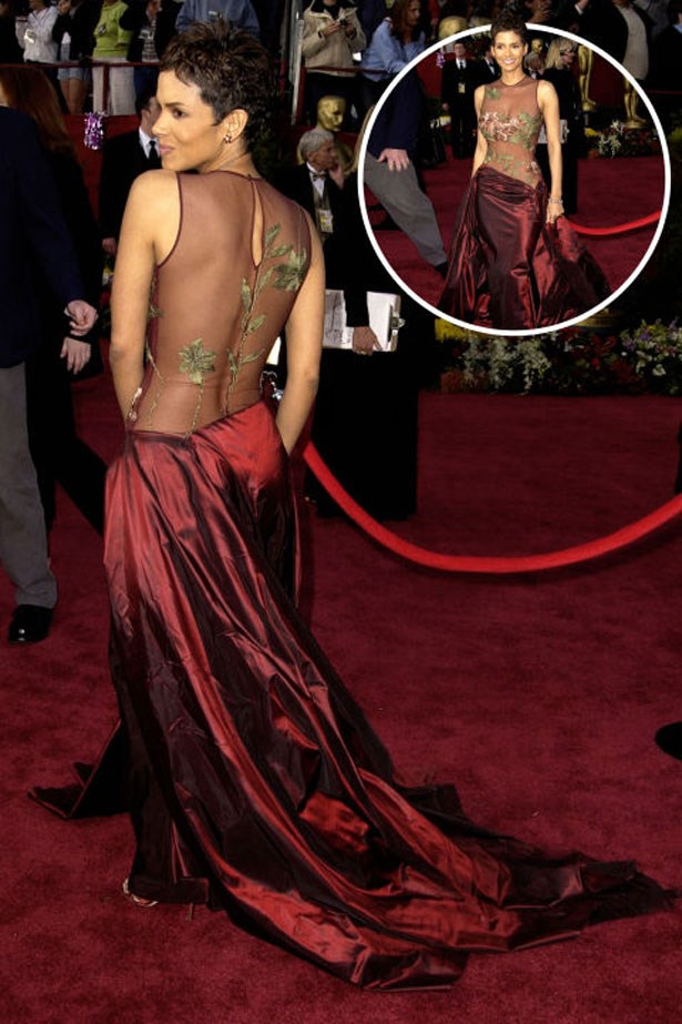 <p>HALLE BERRY</p> <p>In Elie Saab at the 2002 Academy Awards</p>