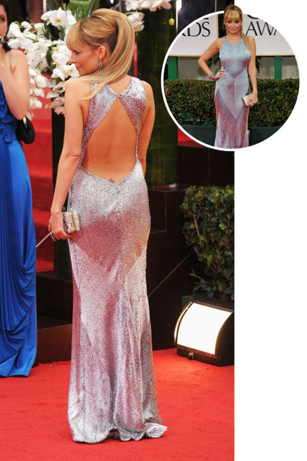 <p>NICOLE RICHIE</p> <p>In Julien Macdonald at the 2012 Golden Globes</p>