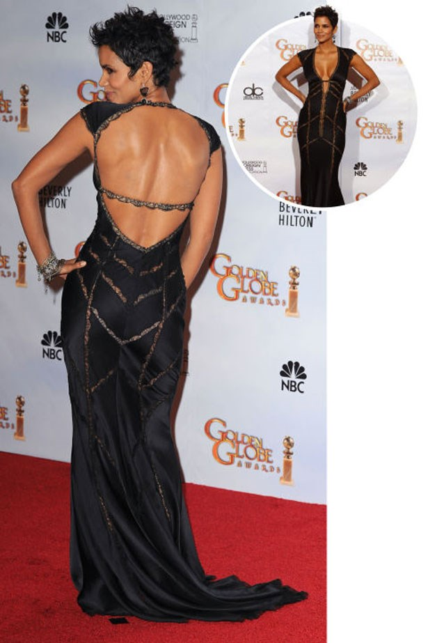 <p>HALLE BERRY</p> <p>In Kaufman Franco at the 2010 Golden Globes</p>