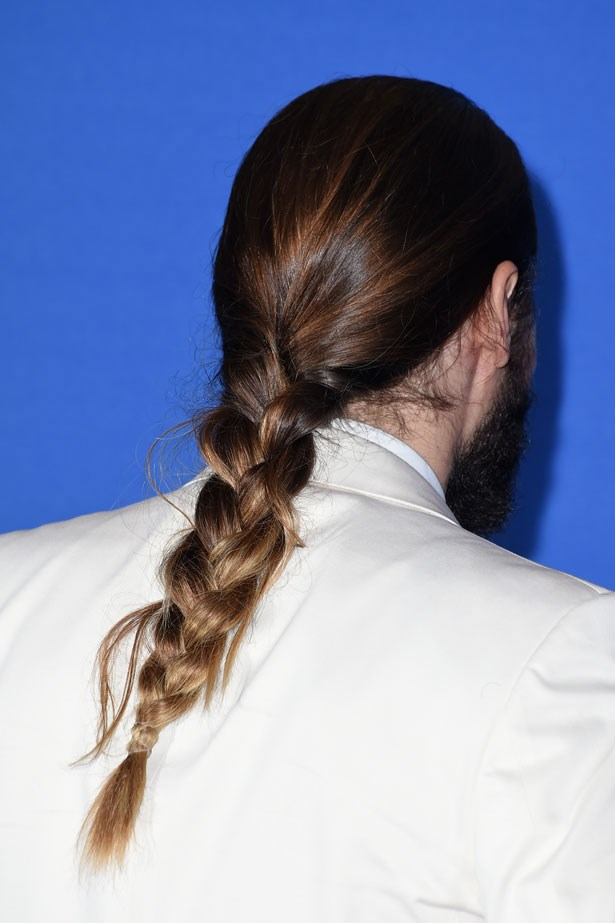 """<p><p><strong>Jared Leto</strong></p></p> <p>From his ombré colour to his <a href=""""http://www.elle.com.au/beauty/trends/2014/3/14-of-jared-letos-best-hair-looks/leto-with-a-chic-low-man-bun/"""">man bun</a> to the <a href=""""http://www.elle.com.au/news/beauty-news/2015/1/move-over-man-bun%E2%80%A6/"""">braid he sported</a> at the Golden Globes, Jared Leto is always impressing us with his long-haired looks.</p>"""