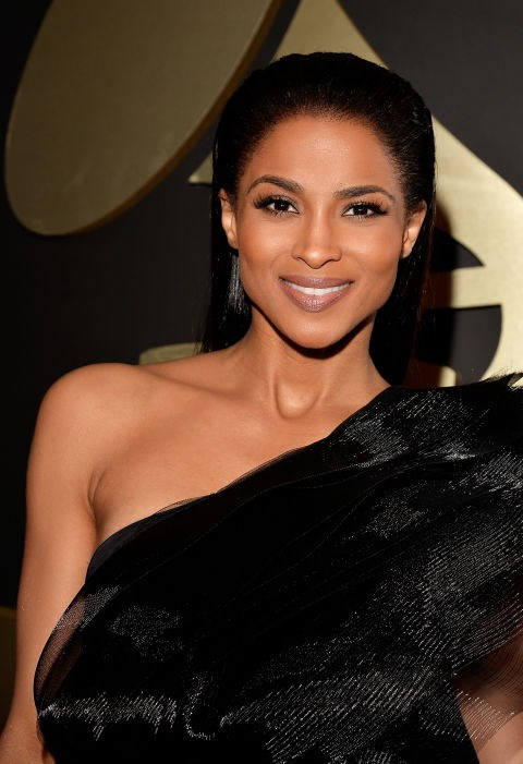 <strong>Ciara</strong><br> Ciara proves that the slicked back hair look is here to stay—her killer cheekbones and bold brows don't hurt either.