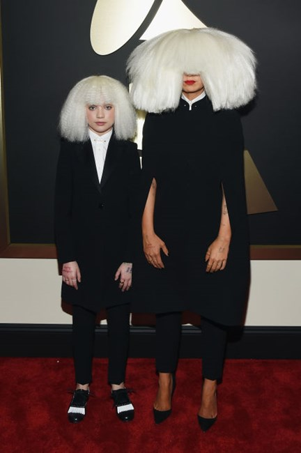 Maddie Ziegler and Sia in Armani
