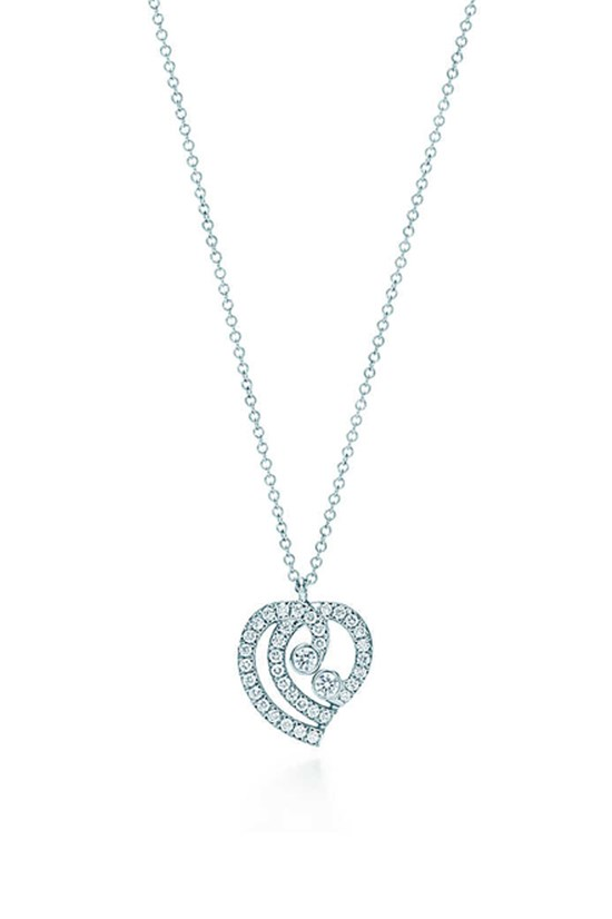 Heart pendant, $5,300, Tiffany & Co, tiffany.com.au