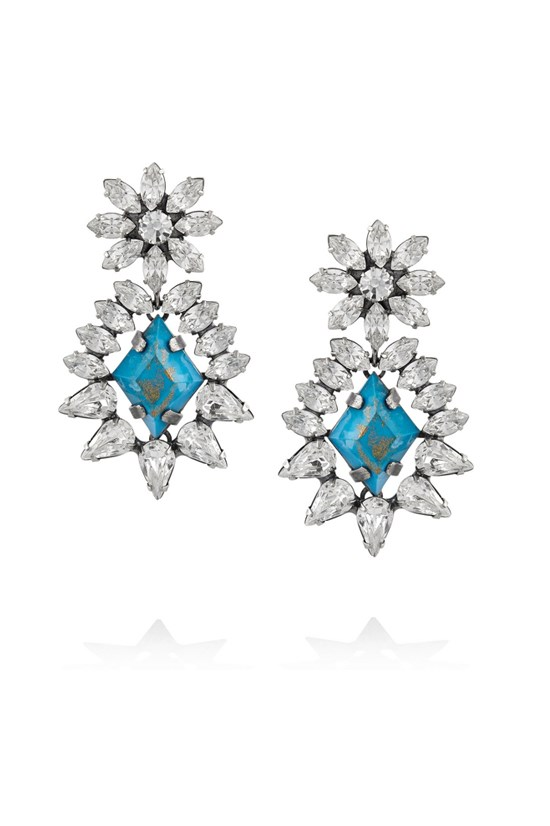 Earrings, $268, Dannijo, theoutnet.com