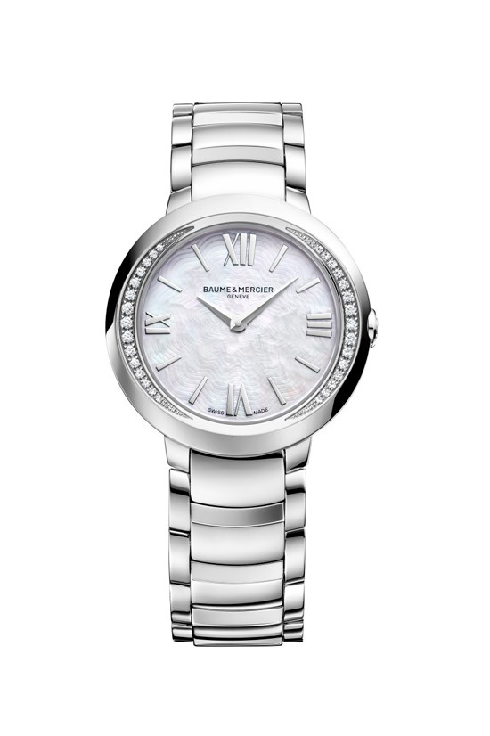 Promesse 30mm watch, $4,850, Baume & Mercier, (02) 8215 5572