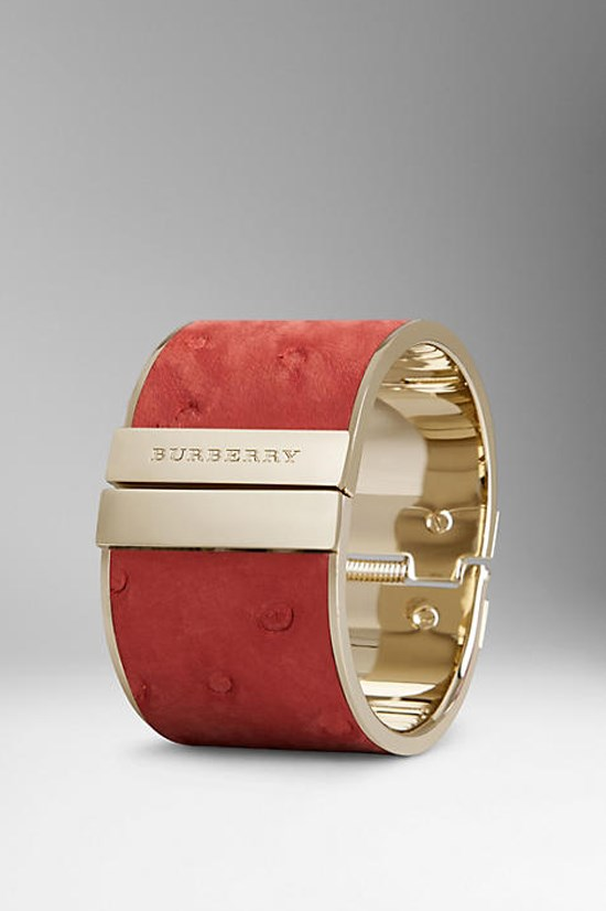 Ostrich leather cuff, $870, Burberry, au.burberry.com