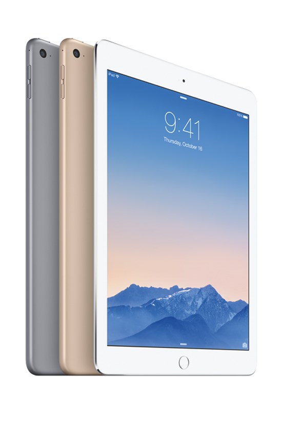 iPad Air 2 (available in silver, space grey and gold), $619, Apple, store.apple.com