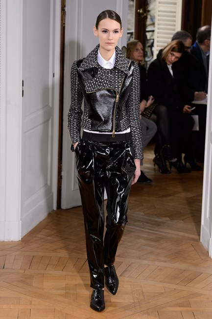 <strong>Olivia Newton John</strong><br> The original Delta still has some of that Grease sparkle but here Bouchra Jarrar update Sandy's 'bad girl' look.  ONJ represented the UK at Eurovision in 1974.