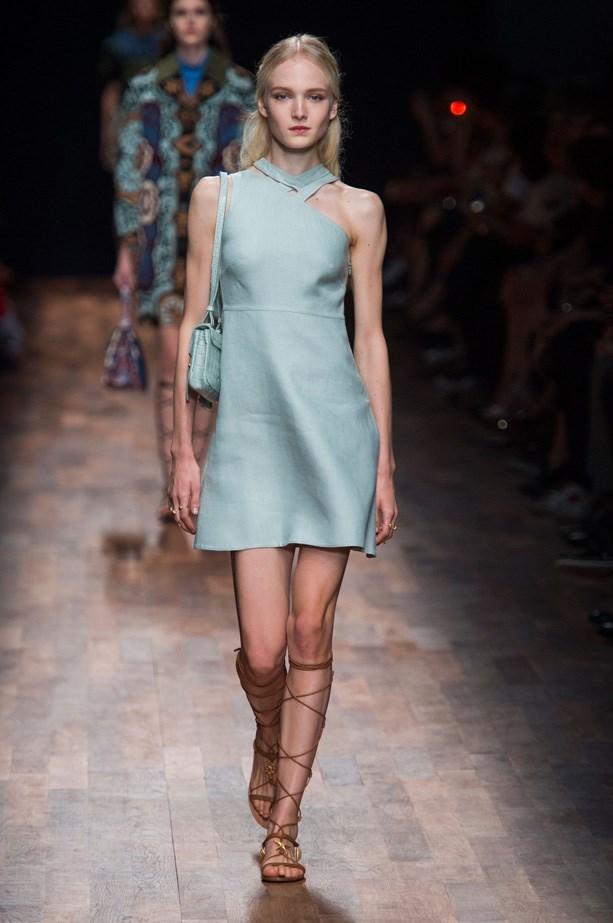 Model on the Valentino runway