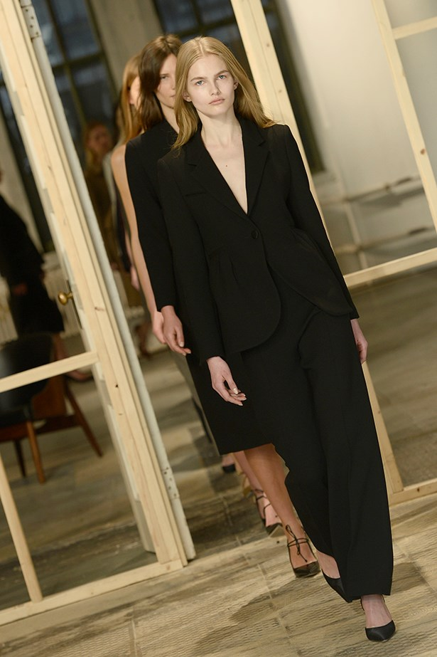 Model on the Protagonist runway at New York Fashion Week