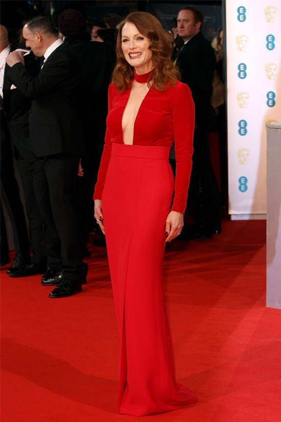 Julianne Moore wearing Tom Ford at the British Academy of Film and Television Arts Awards this year.