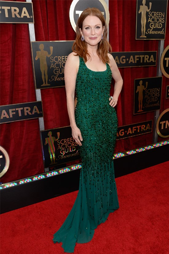 Julianne Moore wearing Givenchy Couture at the Screen Actors Guild awards this year.