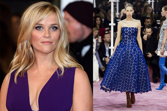 "Celebrity: Reese Witherspoon Nominated for: Best Actress, Wild What we predict she might wear: <a href=""http://www.elle.com.au/runway/haute-couture/ss15/2015/1/christian-dior-haute-couture-ss15/"">Christian Dior Haute Couture SS15</a>"