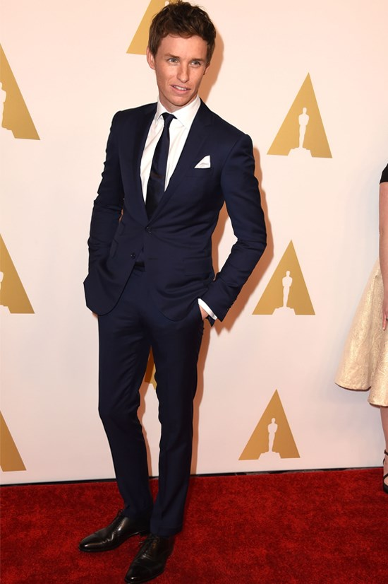 Eddie Redmayne at the 87th Academy Awards Nominees Luncheon.
