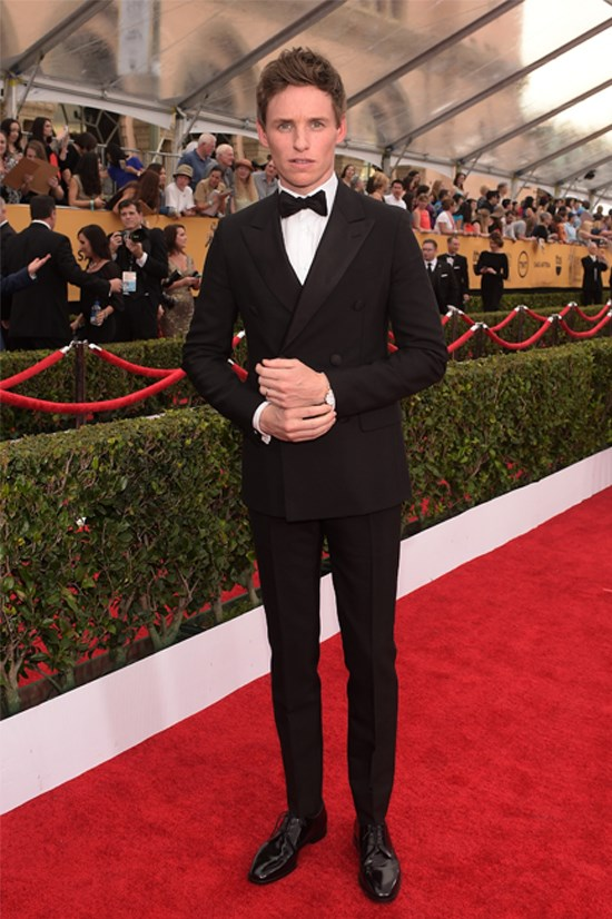 Eddie Redmayne at the 21st Annual Screen Actors Guild Awards.