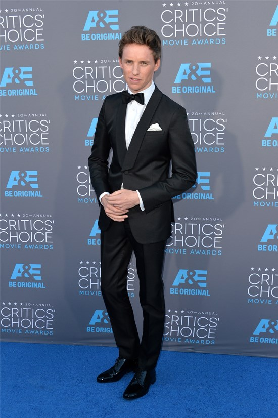 Eddie Redmayne at the 20th Annual Critics' Choice Movie Awards.
