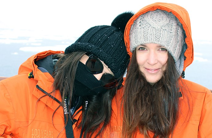 "<em>""We're not traditionally ones to wildlife watch, but this place really brings it out of you.  Seen here braving 'Antarcity' weather with numb faces whale watching.""</em>"
