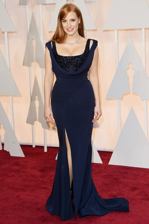 Jessica Chastain in Givenchy by Riccardo Tisci