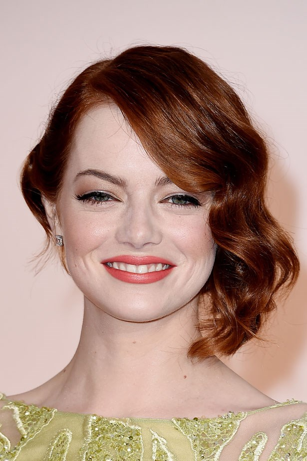 <p><strong>The Red Lip</strong></p> Emma Stone used the Revlon Ultra HD lipstick in Tulip for this look.