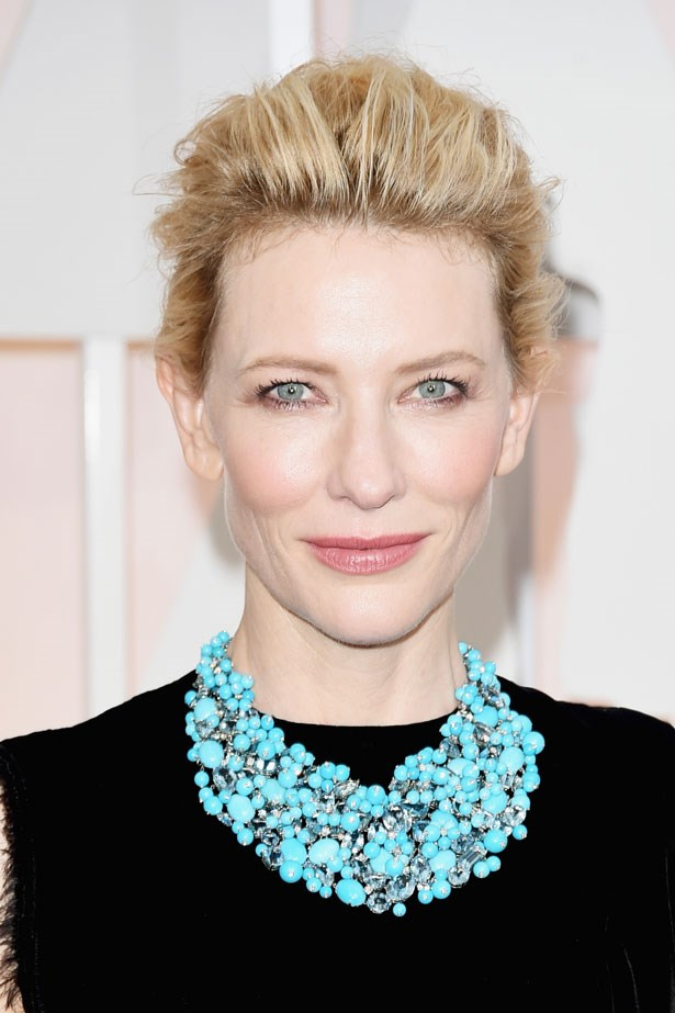<p><strong>The Minimal Look</strong></p> Cate Blanchett wore her usual ethereal glow.