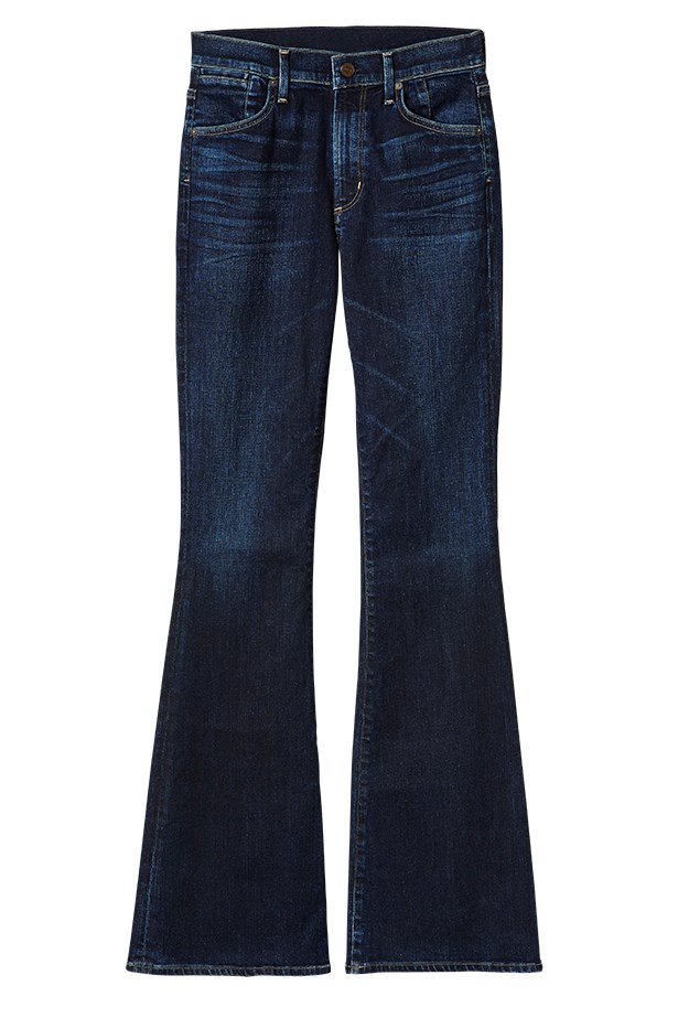 "<a href=""http://www.citizensofhumanity.com/product/women/fleetwood-high-rise-flare-in-ritual"">Jeans, $228, Citizens of Humanity, citizensofhumanity.com</a>"