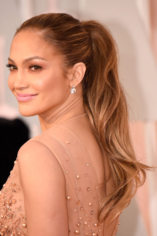 """""""Jennifer Lopez with her long tonal ponytail was so perfectly matched to her skin and dress. The complete look was simply magic."""""""