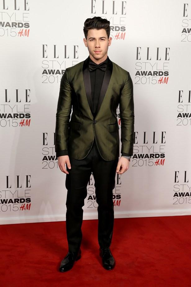 Nick Jonas at the ELLE Style Awards