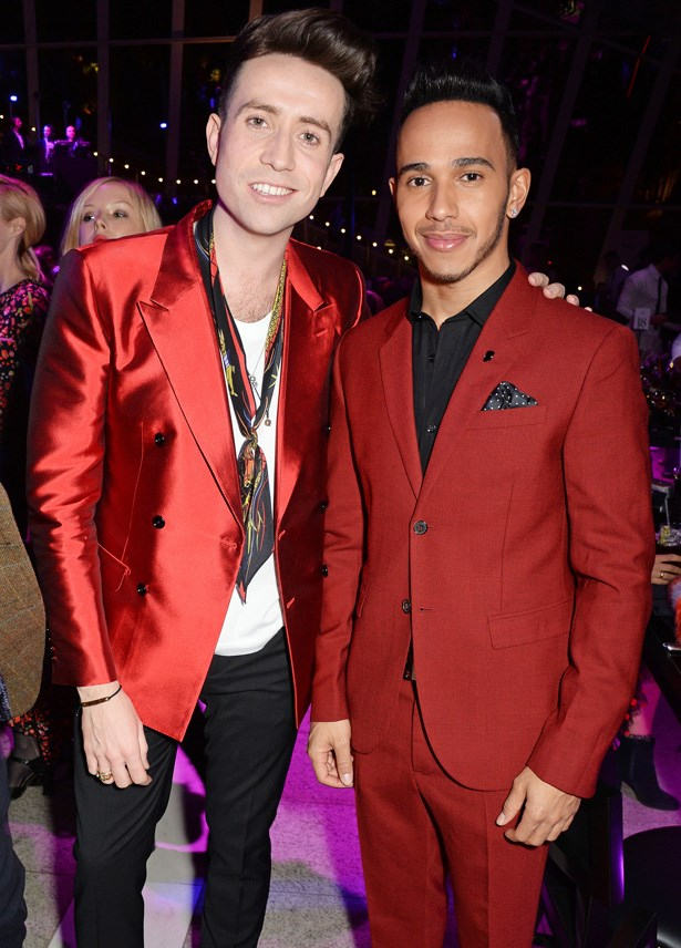 Nick Grimshaw and Lewis Hamilton