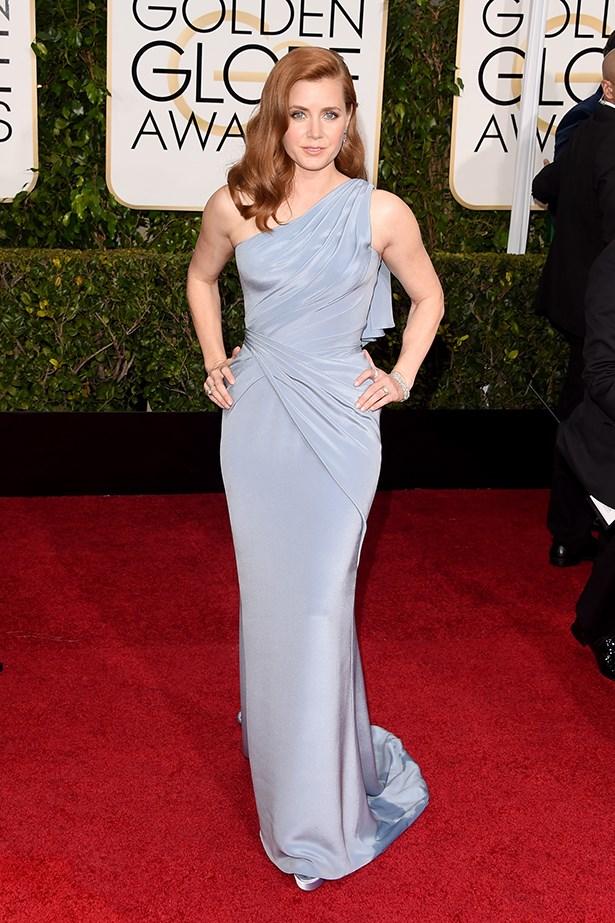 Versace: Amy Adams at the 2015 Golden Globes