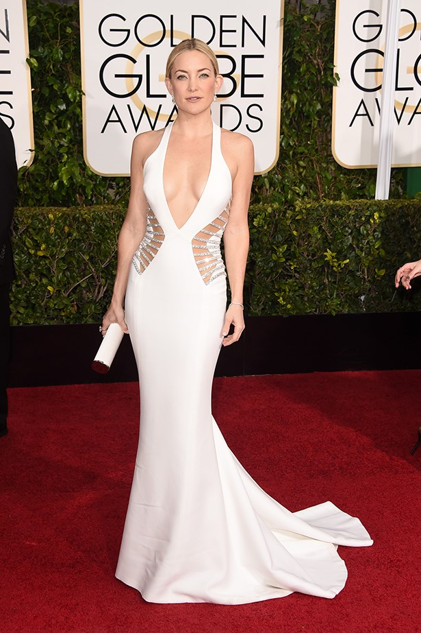 Versace: Kate Hudson at the 2015 Golden Globes