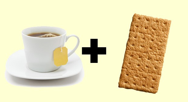 <strong>Chamomile Tea + Graham Cracker With Nut Butter</strong><BR> If you regularly lose sleep because of an upset stomach, chamomile tea can help. Not only is it hydrating, but it's also full of a relaxation agent that can soothe nerves before bedtime. Try adding two graham crackers with two teaspoons of nut butter or a slice of cheese for an added dose of protein, which will help you fall asleep faster. <BR><BR>Writer: Jaclyn London, MS, RD, CDN, is the nutrition director for the Good Housekeeping Research Institute. Source: elle.com