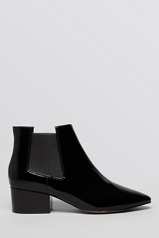"""<strong>French Connection </strong>Pointed Toe Booties - Ronan, <em>$205</em>, available at <a href=""""http://www1.bloomingdales.com/shop/product/french-connection-pointed-toe-booties-ronan?ID=1115054&LinkshareID=TnL5HPStwNw-nWSIyzr3HJ5OnGhN4SYR8g&PartnerID=LINKSHAREAU&cm_mmc=LINKSHAREAU-_-n-_-n-_-n"""">Bloomingdales</a>"""