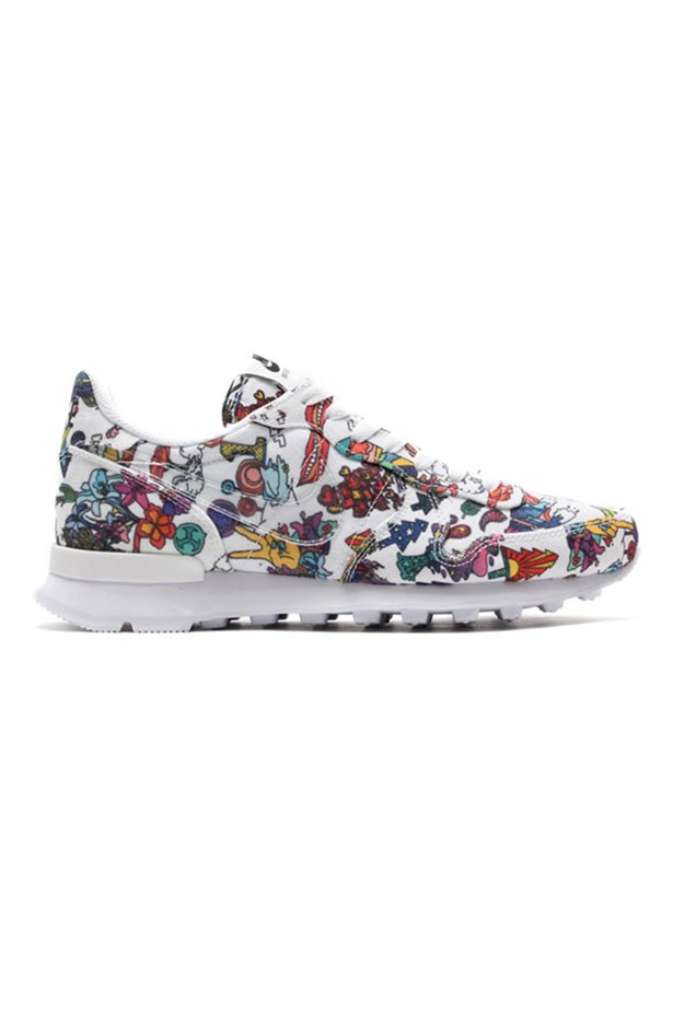 """<p>This retro running style from the 80's is adorned with colourful cartoons and is the perfect addition to any off duty style. Wear to the yoga studio or for the Bondi to Bronte walk. <p> <p><em>Limited Edition Internationalist QS, $130, Nike, <a href=""""http://www.stylerunner.com/"""">stylerunner.com</a></em></p>"""