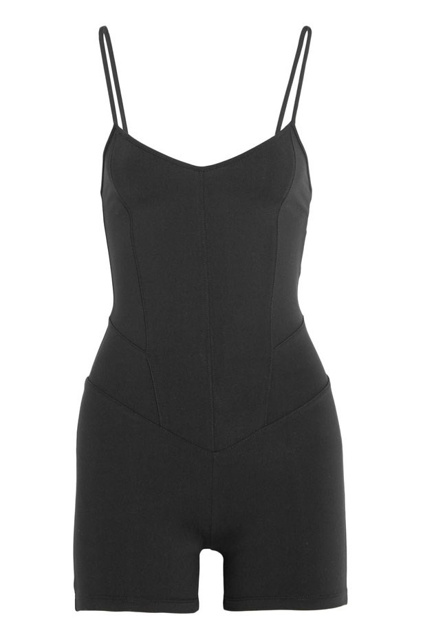 """<p>Don't be thrown by the idea of a jumpsuit for working out (hello Jane Fonda!) this sleek style can be used as a base layer or on its own for ultimate freedom in yoga, meaning you don't have to worry about flashing. Contoured seams help to smooth and define your figure.</p> <p><em>Stretch-Jersey Bodysuit, $217.18, Live The Process, <a href=""""http://www.net-a-porter.com/"""">net-a-porter.com</a></em></p>"""