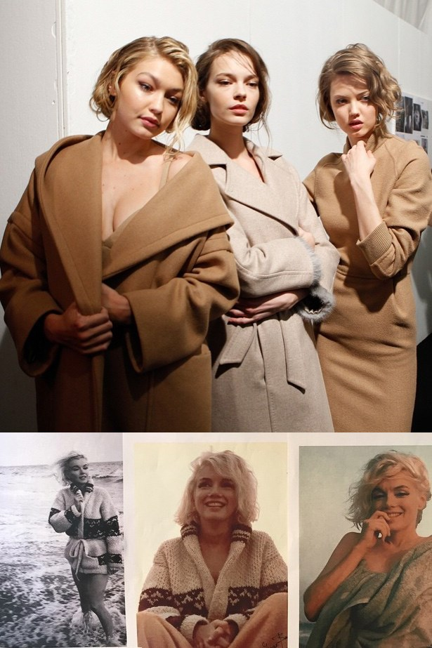 2. Marilyn Monroe is the ultimate style icon. Well actually, we already knew that, but Max Mara's Hollywood-inspired collection has us hankering for pencil skirts, bustiers and Joe Dimaggio-worthy baseball jackets - all in camel of course. (Images: @maxmara Instagram, @elleusa Instagram)