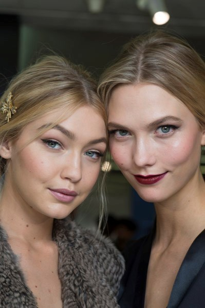 """<strong>Dolce & Gabbana</strong> <BR><BR> In line with the celebration of motherhood that appeared on the <a href=""""http://www.elle.com.au/runway/ready-to-wear/aw15-16/2015/3/dolce-gabbana-aw15-16/"""">Dolce & Gabbana </a>catwalk, makeup artist Pat McGrath and hairstylist Guido Palau looked to glamorous, """"iconic mothers"""" for inspiration – Jane Birkin, Monica Bellucci , Jackie O and Sophia Loren, to name a few. This translated into two easy-to-copy makeup looks made for women on the run.  Winged eyeliner, tawny brown eyeshadow, soft blush and a pale pink lipstick (Dolce & Gabbana's Classic Cream Lipstick in Antique Rose) and again with a vibrant red lipstick."""
